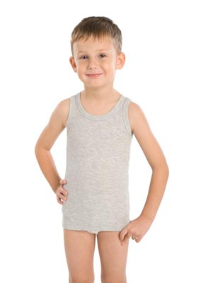 Boy's undershirt wide stripe
