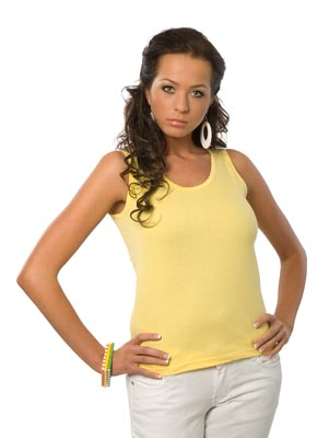 Ladies' undershirt wide stripe