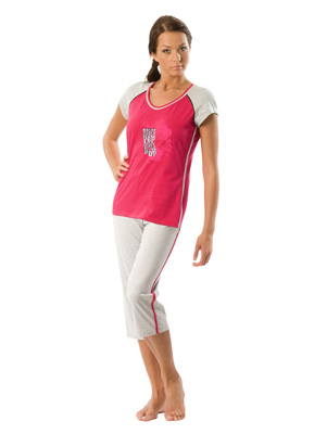 Women's pyjamas sh.s., pants 3/4
