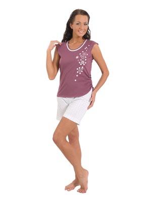 Ladies' pyjamas wide stripe