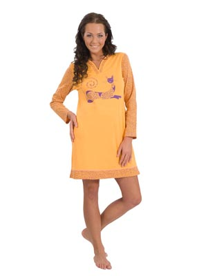 Ladies' night dress long sleeve