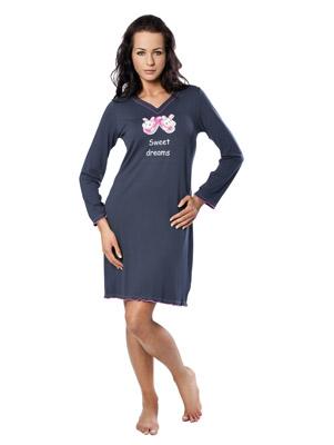 Ladies' night dress long sleevee