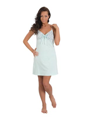 Ladies' night dress narrow stripe