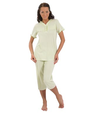 Women's pyjamas sh.s., pants 3/4
