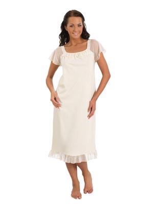 Ladies' night dress short sleeve