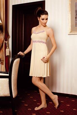 Ladies' night dress narrow stripe