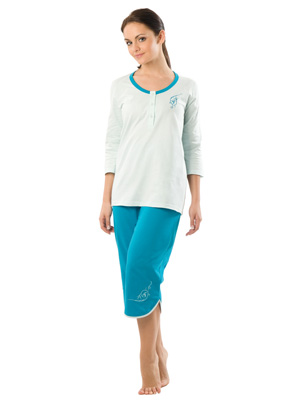 Ladies' pyjamas 3/4 sleeve