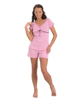 Ladies' pyjamas short sleeve