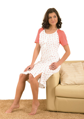 Ladies' night dress short sleeve