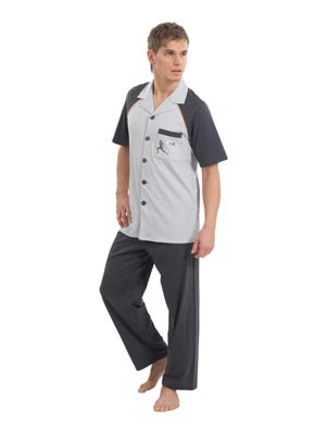 Men's pyjamas,sh.s.long trousers