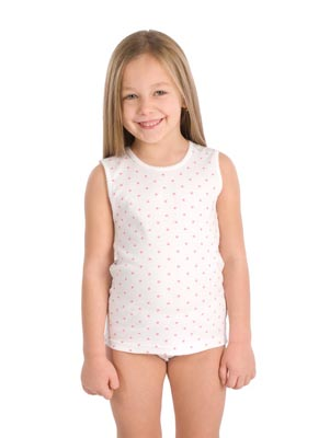Girl's undershirt wide stripe