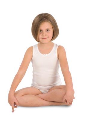 Girl's undershirt wide stripe