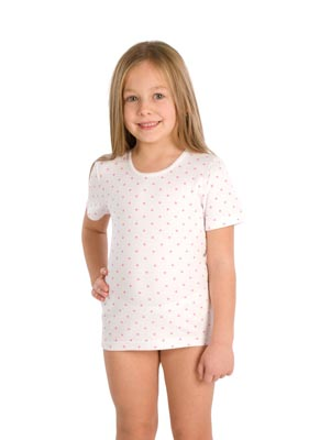 Girl's undershirt short sleeve