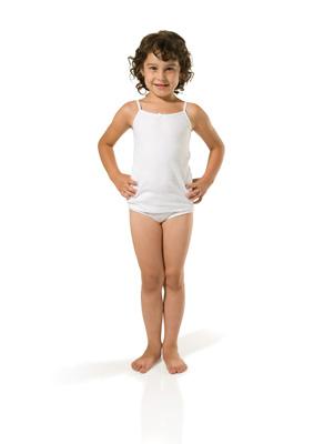 Girl's tight sleeve T-shirt