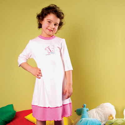 Girl's Night dress 3/4 sleeve