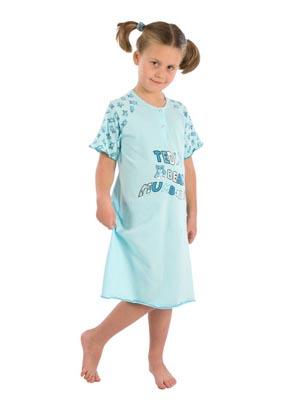 Girl's night dress short sleeve