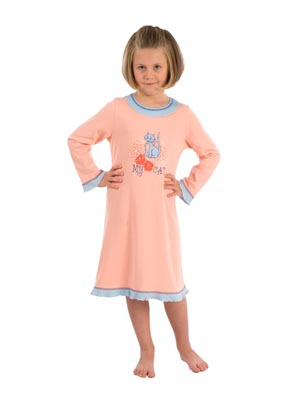 Girl's night dress long sleeve