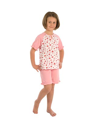 Girl's pyjamas short sleeve