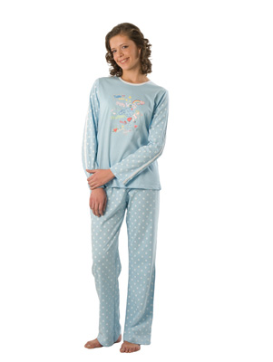 Teen-age pyjamas long sleeve