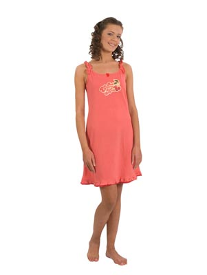 Youth night dress,narrow shoulder-strap