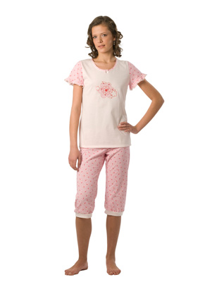 Pyjama for young girl, sh.s.pants 3/4